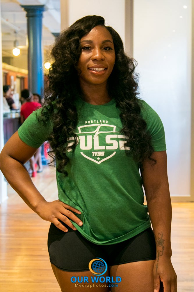 Gwen Berry of Portland PULSE Track & Field TrackTown Summer Series