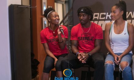 Quanesha Burks of the San Francisco Surge track team
