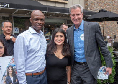 Mayor Bill de Blasio in LeFrak City