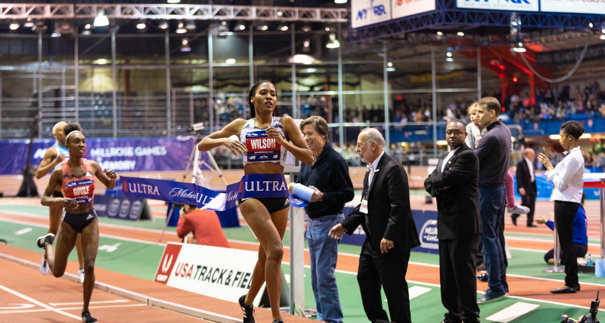 Wilson, Saruni, Crouser set World Leads at Millrose
