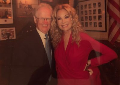 Jimmy with Kathie Lee Gifford in his restaurant