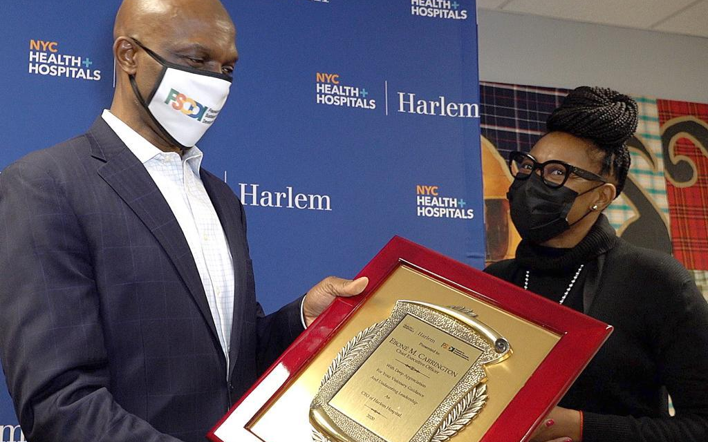 Foundation Celebrate Workers at Harlem Hospital