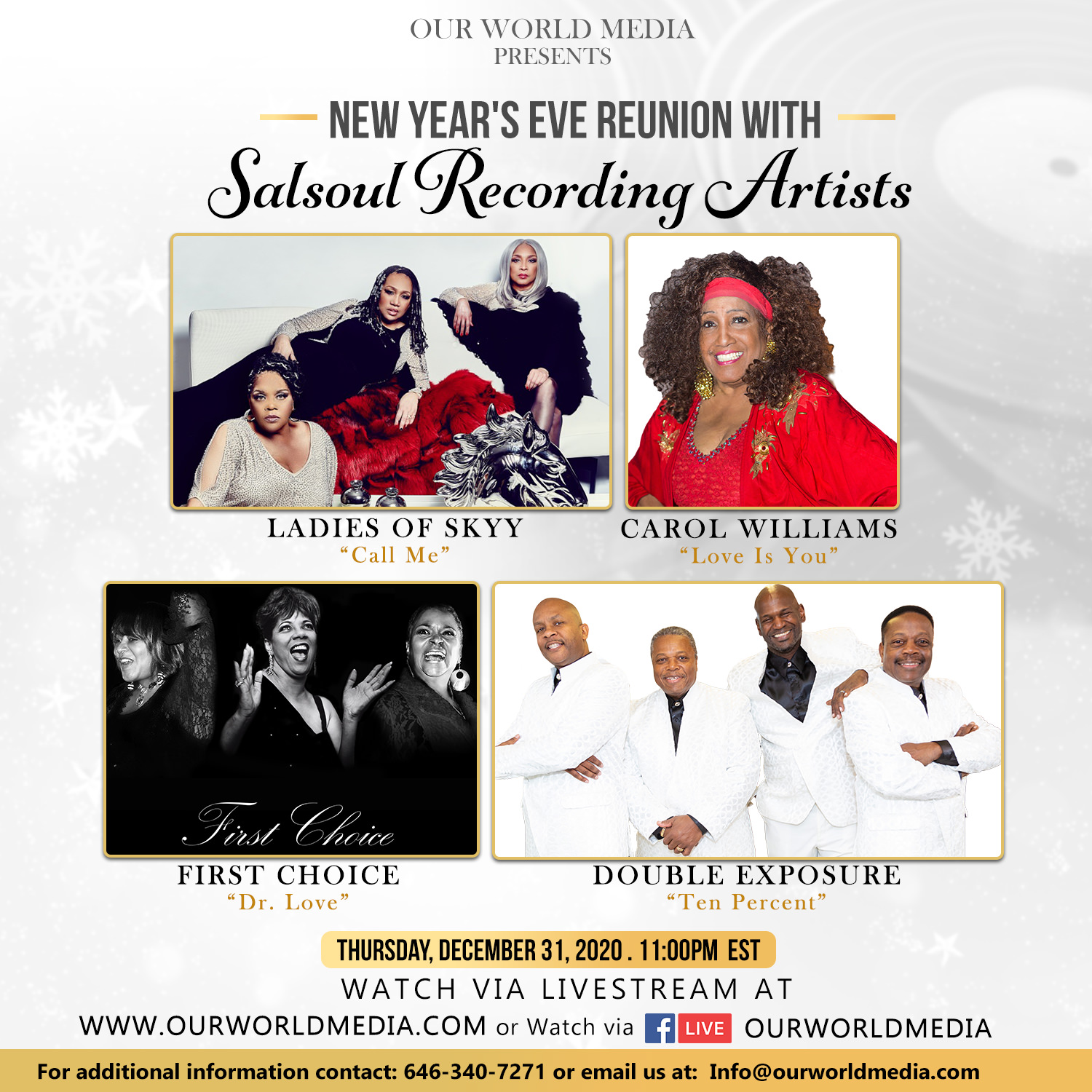 New Year's Eve reunion with Salsoul Recording Artist
