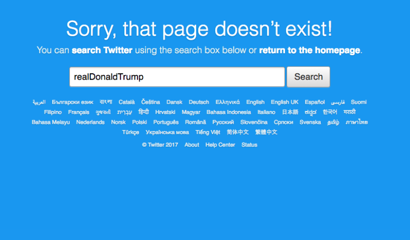 Trump's Tweeting Day's are Over