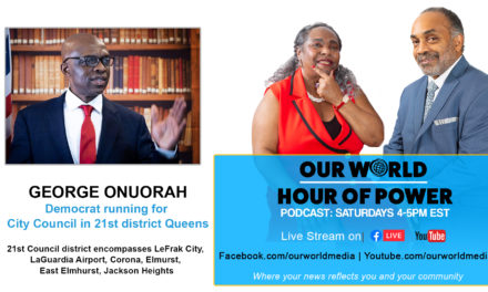 GEORGE ONUORAH – Democrat running for City Council in 21st district Queens